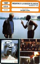Fiche Cinéma. Movie Card. Meurtre à la Maison Blanche/Murder at 1600 (USA) 1997