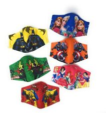 Kids Ages 4-5/6-10/9-12 Reusable Face Mask Triple-Layer Cloth Face Covering