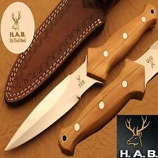 10.2 INCH CUSTOM HAND MADE MIRROR POLISH D2 TOOL STEEL  DAGGER KNIFE (QN-392}