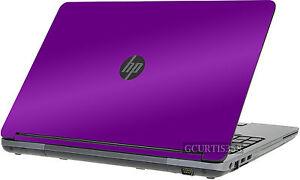 PURPLE Vinyl Lid Skin Cover Decal fits HP ProBook 655 G1 Laptop