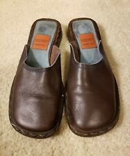Goffredo Fantini Suede Brown Mules Slide Flat Shoes Size 38.5 Us 8.5
