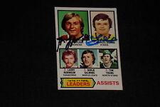 HOF GUY LaFLEUR & MARCEL DIONNE 1977-78 TOPPS LEADERS SIGNED AUTOGRAPHED CARD #2