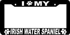 Irish Water Spaniel Dog paw print License Plate Frame