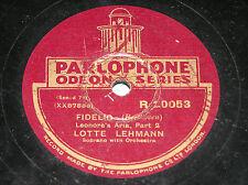 "Parlophone 78 - Beethoven Leonore´s Arie ""Fidelio""pt.1/2 Lotte Lehmann R.20053"