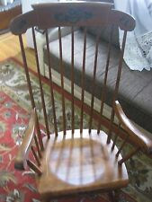 VINTAGE S.Bent & Bros Colonial Rocking adult chair Antique EXCELLENT CONDITION