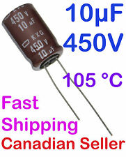 5pcs 10uF 450V 12.5x20mm Nippon KXG For PC TV AUDIO STEREO TFT LCD ACL VIDEO PS