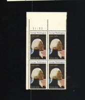 BLOCK OF 4 - 20 CENT STAMPS GEORGE WASHINGTON 1732 - 1982 250th COMMEMORATIVE