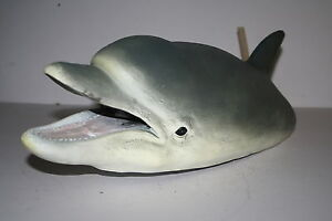 45cm FLOATING DOLPHIN HEAD FOUNTAIN POND ORNAMENT - GARDEN GIFT - WATER FEATURE