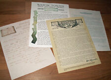 Watchtower Charles Taze C.T.Russell Letter Set Repos