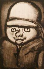 Georges ROUAULT : Homme à la moustache # GRAVURE SIGNEE # RARE # 1928 # PERE UBU
