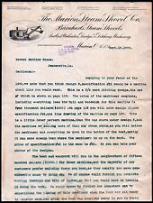 1900 Marion Steam Shovel Co - Ohio - Vintage Caterpiller Equipment Letter Head