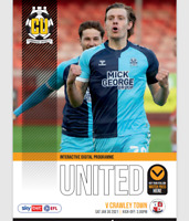 Cambridge Utd v Crawley Town League 2 30-1-21 - Electronic Programme RARE