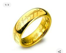 Lord of the Rings Ring Gold Plated Style Etched Sz 9