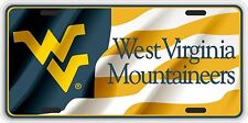 WVU Waving West Virginia Flag Souvenir License Plate SVWVUFB03