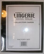 PLAYBOY SPECIAL EDITIONS LINGERIE 100TH ISSUE COLLECTOR CARDS FACTORY SET SEALED