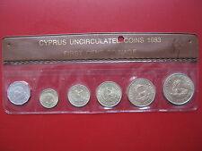 Cipro 1983 6 MEDAGLIA Set 1/2 - 20 centesimi di buona qualità in chiaro manica