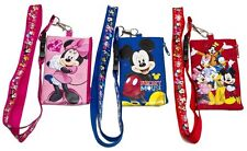 (3x) Disney Mickey Mouse  Lanyard Fast-pass ID Ticket iPhone Badge Holder Wallet