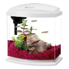 Aqueon Mini Bow 2.5 g LED Desktop Aquarium Kit Betta Complete Fish Tank White