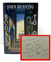 John Dunning - Booked to Die - SIGNED 1st 1st - Biblio-Mystery - NR
