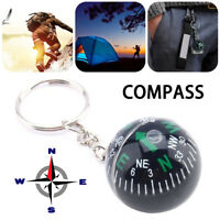 28mm Ball Keychain Compass Guiding Camping Hiking Travel Outdoor Survival Gift