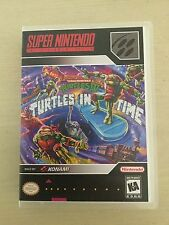 Universal SNES Replacement Case (NO GAME) TMNT Turtles In Time - Super Nintendo