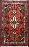 Tribal Traditional Geometric Hamedan Area Rug Hand-knotted Oriental Carpet 3'x5'