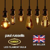 LED Vintage Filament Lamp Edison Bulb Light Bulb Amber Retro 2W 4W 6W  8W bulbs