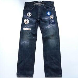 Rare Neighborhood Disney Mid Straight Leg Jeans Size Large W34 L32 Blue Denim L