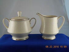 Noritake Fine China Affection Covered Sugar Bowl Cream Creamer Set Excellent