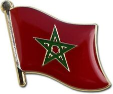 Morocco Country Flag Bike Motorcycle Hat Cap lapel Pin