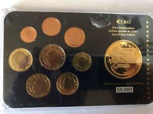 BELGIEN: KMS Kursmünzensatz: 1 c - 2 € EURO - SONDEREDITION