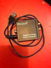 PROZOR  Digital to Analog Audio Converter USB L R Output Coaxial SPDIF