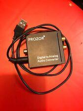 PROZOR Digital to Analog Audio Converter USB L R Output Coaxial SPDIF