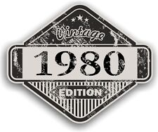 Aged Distressed Vintage Edition Yr 1980 Retro Cafe Racer Motorcycle car sticker