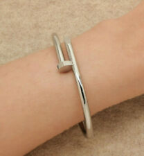 18k White Gold Finish Juste un Cl Diamond Bracelet 7.25 Inches Very Elegant