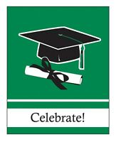 Graduation Invitations Invites Green 25ct With Envelopes Decoration Party Supply