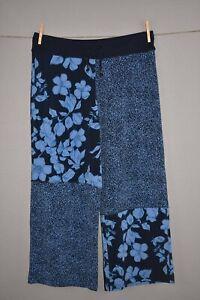 SUSAN GRAVER NEW $60 Printed Liquid Knit Wide-Leg Crop Pant Small