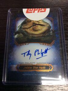 2016 Star Wars Masterwork Canvas Auto Toby Philpott as Jabba The Hutt 11/25 sign