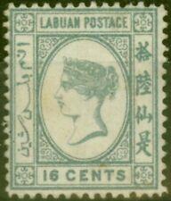 Labuan 1892 16c Grey SG46 Fine Mtd Mint (8)