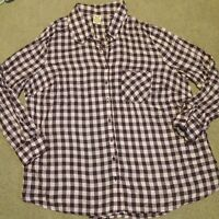 Faded Glory 2x Plus Purple Pink Tab Sleeve Button Down Plaid Shirt