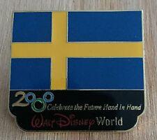 Millennium Village WDW Flag Pin Sweden Pavilion 2000 Disney Pin