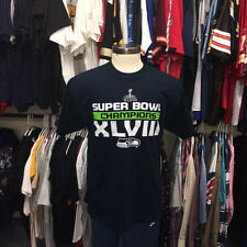 Seattle Seahawks Super Bowl XLVIII Champions T Shirt NFL Football Mens Large