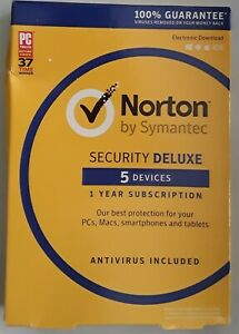 NEW Norton Security Deluxe - 5 Devices (PC Software)