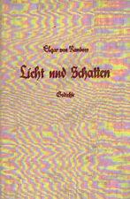 R159 Gedichte. Licht und Schatten. Elgar von Randow. 45 Seiten. Hardcover - ange