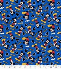 1/2 Yard Or Yard Disney Mickey Mouse 100% Cotton Fabric 1928