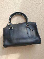 Authentic Coach Medium Vintage Black leather Tote bag top handles handbag used