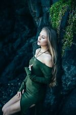 Pixie Tunic Top, Long Sleeve Off Shoulder, Fairy, Tribal, Festival, Hippie