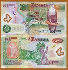 Zambia, 1000 Kwacha, POLYMER, 2011, Pick 44 (44h), UNC