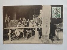 CPA :  Indochine - préparation de la nacre pour l'incrustation 1914
