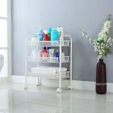 3-Tier Rolling Wheel Trolley Cart Beauty Salon Shelf Kitchen Storage Rack UK